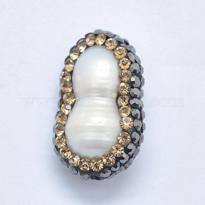 Perlas naturales abalorios de agua dulce cultivadasRB-K056-06A-1