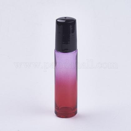 10mlガラスグラデーションカラーエッセンシャルオイルの空のローラーボールボトルX-MRMJ-WH0011-B04-10ml-1