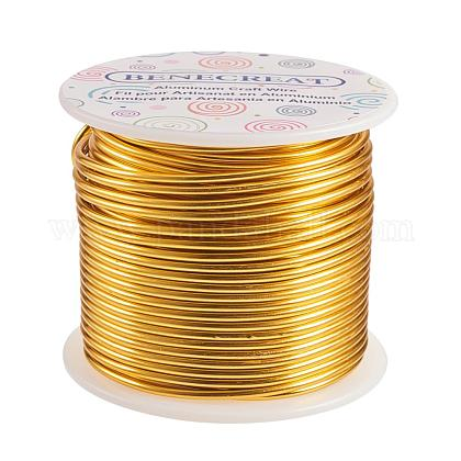 BENECREAT 12 Gauge (2mm) Aluminum Wire 100FT (30m) Anodized Jewelry Craft Making Beading Floral Colored Aluminum Craft Wire - Light GoldAW-BC0001-2mm-08-1