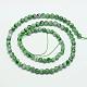 Chapelets de perles en jaspe à pois verts naturelsG-G545-35-2