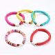 Handmade Polymer Clay Heishi Bead Stretch BraceletsBJEW-JB05095-1
