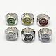 Platinum Tone Iron Stretch Ring Quartz WatchesRJEW-R119-14-1