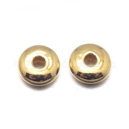 Vraies perles d'espacement rondelles en argent sterling plaqué 18k or véritableSTER-M103-05-3.8mm-G-1