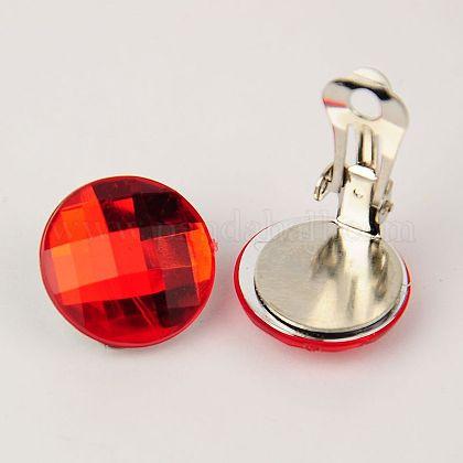 Brass Clip-on EarringsEJEW-JE00851-03-1
