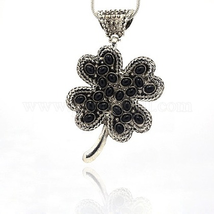 Clover Charms,Four leaf clover charms,Enamel charms Clover Pendant,Jewelry Supplies,alloy charms,alloy pendant,Black,gold