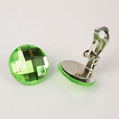 Brass Clip-on EarringsEJEW-JE00851-08-1