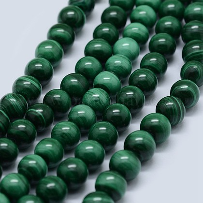 Natural Malachite Beads Strands G-F571-27A1-5mm-1