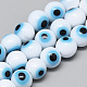 Handmade Lampwork Evil Eye Beads Strands LAMP-R140-6mm-01-1