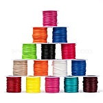 Waxed Polyester Cords, Mixed Color, 1mm; about 10m/roll, 25rolls/bag