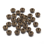 Tibetan Style Spacer Beads, Antique Bronze, Lead Free, 5x3mm, Hole:1.5mm