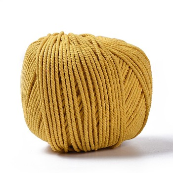 Cotton String Threads for Jewelry Making, Macrame Cord, Yellow, 3mm; about 200m/roll