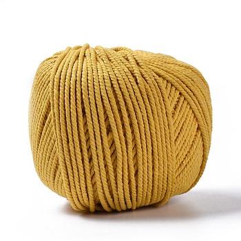 ジュエリー製作用綿糸スレッド, マクラメコード, きいろ, 3ミリメートル、約200 M /ロール
