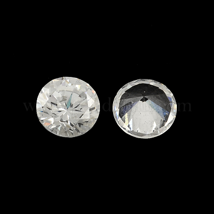 Diamond Shaped Cubic Zirconia Pointed Back CabochonsZIRC-R004-10mm-01-1