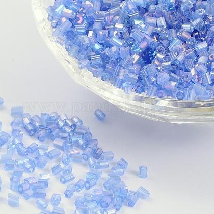 11/0 deux verre taillé perles de rocailleX-CSDB166-1