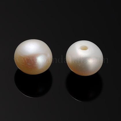 Perlas naturales abalorios de agua dulce cultivadasPEAR-E001-14-1