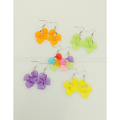 Fashion Acrylic EarringsEJEW-JE00670-1