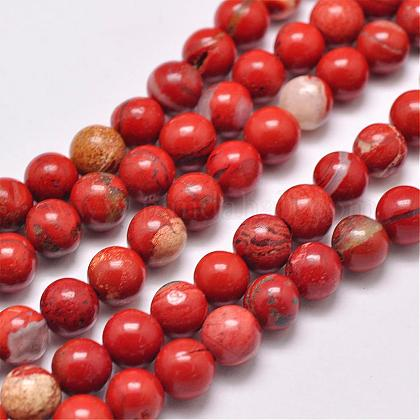 Natural Red Jasper Beads StrandsG-F348-02-4mm-1