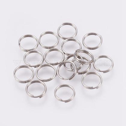 304 Stainless Steel Split RingsSTAS-E010-7x0.6mm-2-1