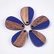 Colgantes de resina y madera de nogalRESI-S358-14-M-2