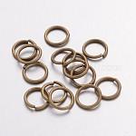 Jump Rings, Close but Unsoldered, Brass, Antique Bronze, 18 Gauge, 8x1mm; Inner Diameter: 6mm; about 4300pcs/500g