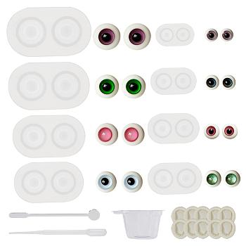 Olycraft 6 шт. кукла глаз плесень глазное яблоко смола Молды, Смола для литья глазного яблока декоративная эпоксидная форма для глаз с аксессуарами для изготовления игрушек на Хэллоуин (диаметр 11.5~22.5 мм)