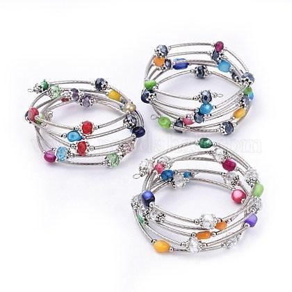 5 Loops Wrap BraceletsBJEW-JB04369-M-1