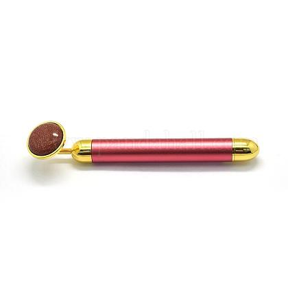 Palos de masaje eléctricos de piedra dorada sintética (sin batería)G-E515-13C-1