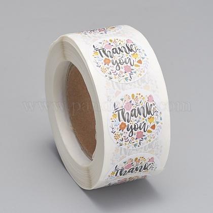 Etiquetas autoadhesivas de etiquetas de regalo de papel kraftDIY-G013-A14-1