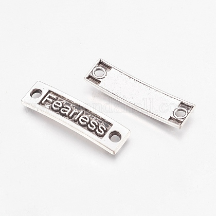 Tibetan Style Alloy Rectangle with Fearless LinksTIBE-S240-AS-FF-1