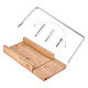 Wooden Soap Cutter Cutting Tools, Rectangle Loaf Mould with Wire Slicer, for Handmade Craft Soap Making Tool, BurlyWood, 119x248x33mm