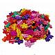 Niños accesorios para el cabello, pinzas para el cabello de plástico, flor, color mezclado, 30x20mm