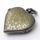 Cabezas de reloj de cuarzo de aleación de zinc de la vendimia corazón cepilladoWACH-R008-14-4