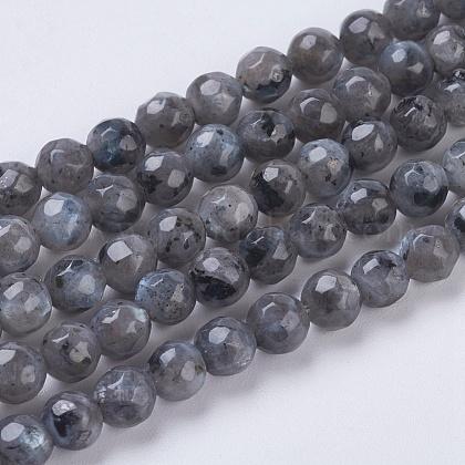 Chapelets de perles en labradorite naturelle G-G545-14-1