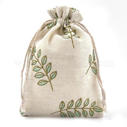 ポリコットン(ポリエステルコットン)パッキングポーチ巾着袋ABAG-S004-04C-10x14-1