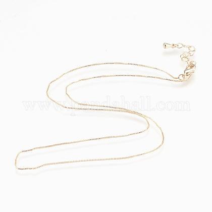 Collane a catena in ottoneNJEW-P222-05G-1