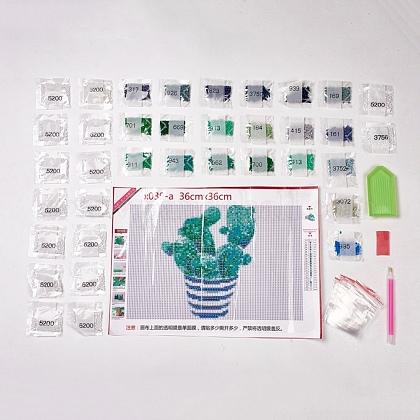 DIYフルラウンドダイヤモンド塗装DIY-WH0102-01-1