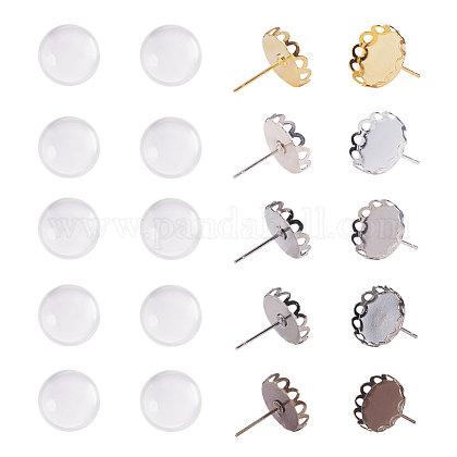 Bijoux boucle d'oreille bricolageKK-PH0035-36-1