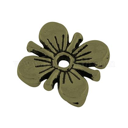 De aleación de estilo tibetano de varias vueltas enlaces flor del cirueloTIBE-0223-AB-FF-1