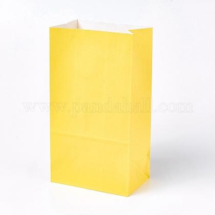 Sac en papier kraft de couleur pureCARB-WH0008-09-1