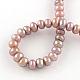 Hebras de perlas de agua dulce cultivadas naturalesPEAR-R013-11-2