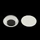 Черный и белый пластик покачиваться гугли глаза кнопки поделок скрапбукинга ремесла игрушка аксессуары с этикеткой пластификатор на спинеX-KY-S002B-15mm-2