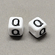 Large Hole Acrylic Alphabet European BeadsSACR-Q103-8mm-01Q-2