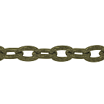 Iron Cable Chains, Nickel Free, Oval, Antique Bronze, 4.7x3.3x1mm