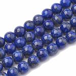 天然石ラピスラズリビーズ連売り, ラウンド, 4mm, 穴:1mm、約100個/連, 15.7