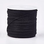 Nylon Thread, Nylon Jewelry Cord for Custom Woven Jewelry Making, Black, 0.8mm; about 45m/roll