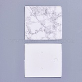 Cardboard Earring Display Cards, WhiteSmoke, 5x4.5x0.05cm