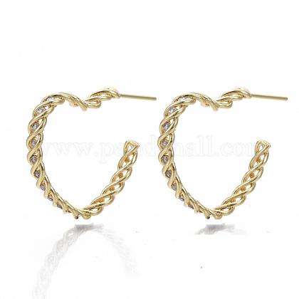 Brass Stud EarringsKK-S348-454-NF-1
