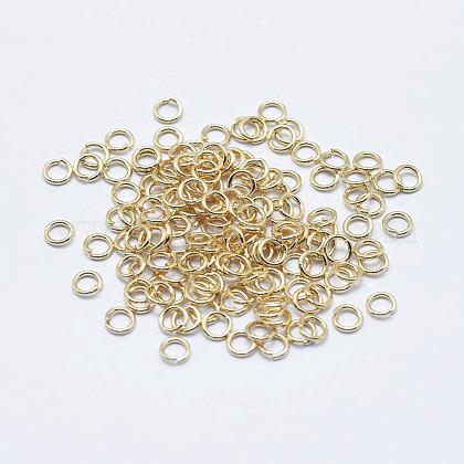 電気メッキステンレス鋼オープン丸カンSTAS-G152-01G-2.5x0.4-1