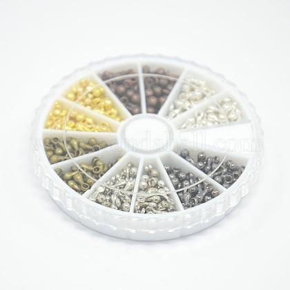 1 caja de encantos de aleación de 6 coloresPALLOY-X0006-B-1