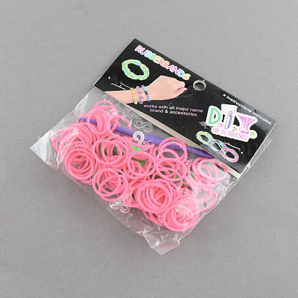 DIY Rubber Loom Bands Refills with Accessories X-DIY-R011-02-1
